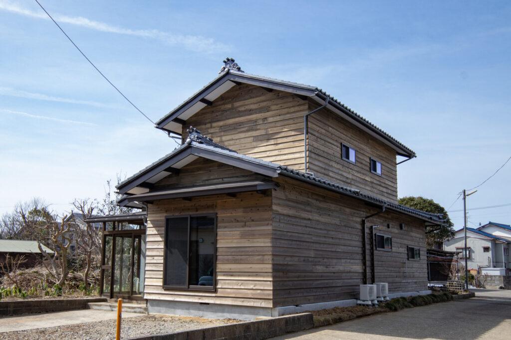 新潟県村上市坂町にてリフォーム住宅の外観